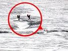 Dva švýcarští dobrodruzi na cestě k ledovcové řece