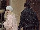 Natáčení videoklipu Sněhulák k písni Michala Hrůzy.