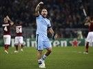 POJISTIL VÍTĚZSTVÍ. Pablo Zabaleta z Manchesteru City se raduje z výhry nad AS Řím a postupu do osmifinále Ligy mistrů.