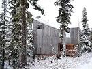 Dřevo na chatě se časem sladí s barvami okolní přírody a lesíku.