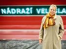 Moderátorka ČRo2 Světlana Lavičková se po nahrávání přesunula do nové stanice Veleslavín (16. 12. 2014)