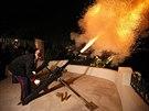 Na počest narození knížecích dvojčat vystřelili 42 dělových salv (Monako, 10. prosince 2014).