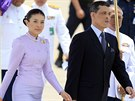 Thajský korunní princ Vatčirálongkón a princezna Šírasmí (Bangkok, 11. června 2006)