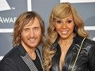 David Guetta a jeho manželka Cathy (Los Angeles, 12. února 2012)