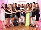 Finalistky České Miss 2015, šéfka soutěže Marcela Krplová a patronka Iva Kubelková
