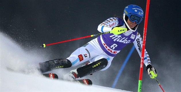 Maria Pietilaeová-Holmnerováve slalomu v Aare.