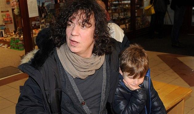 Richard Genzer se synem Matyá�em