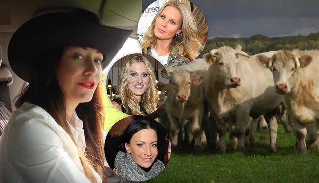 Agáta Pracha�ová si vyzkou�ela práci honáka a krávy pojmenovala podle modelek.