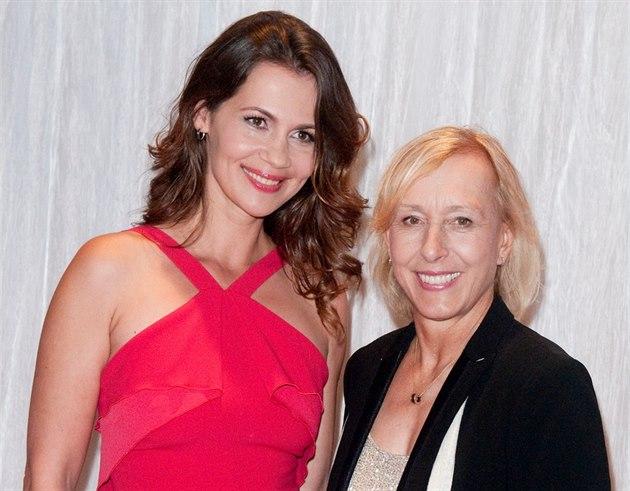 Julia Lemigovová a Martina Navrátilová (Delray Beach, 22. listopadu 2014)
