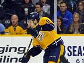 �védský hokejista Filip Forsberg z Nashvillu v NHL zá�í.