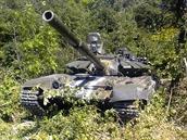 Ruský tank T-72B3 na Ukrajině