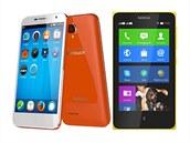 Alcatel OneTouch Fire E a Nokia X