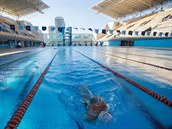 Olympijský bazén v Riu de Janeiro.