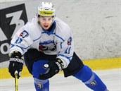 Slovenský hokejový úto�ník Mário Bli��ák na prvním tréninku Plzn�