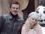 Natáčení videoklipu Sněhulák Michal Hrůza přihlížel, i když před kamerou se neobjevil.