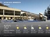Aplikace MSN Počasí zobrazuje podrobné informace o počasí v místě, kde se právě nacházíte.