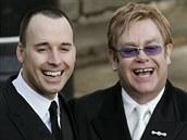 David Furnish a Elton John (Windsor, 21. prosince 2005)