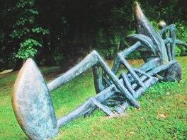 Ukradená bronzová socha OMAHA