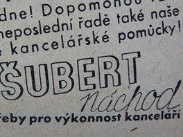 Když si v Náchodě Vlastimil Šubert zřídil papírnický obchod, vydával svůj reklamní časopis Zprávy pro výkonnost kanceláří.