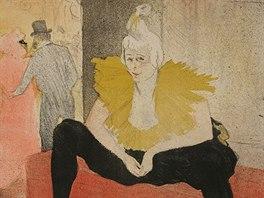 Henri de Toulouse-Lautrec: Sed�c� klaunka (1896)