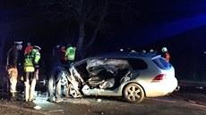 Tragická nehoda na silnici I/61 u Lidic