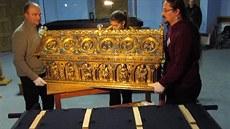 p�evoz Relikviá�e sv. Maura z Be�ova na Pra�ský hrad