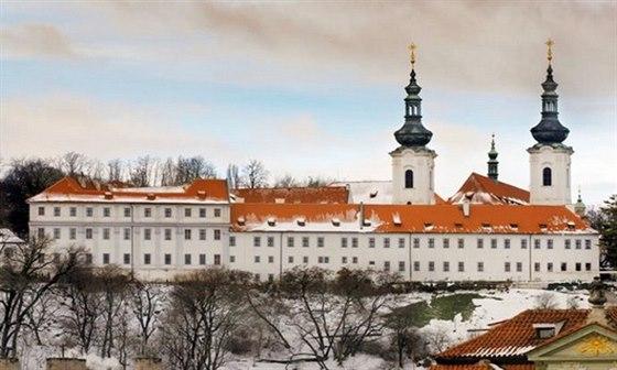 Součástí Strahovského kláštera je slavná Strahovská knihovna
