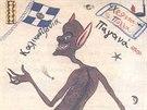 Kallikantzaroi čili řecký čert, který se na Vánoce vynoří z hlubin země a páchá neplechu.