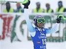 ŠŤASTNÝ ÚSMĚV. Šárka Strachová po dokončení slalomu v Kühtai, kde si dojela pro druhé místo.