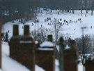 Britské děti mají z přívalů sněhu velkou radost (27. prosince)