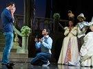 Velmi výpravná žádost o ruku. Na Broadwayi jí během představení Popelka asistovali i herci.