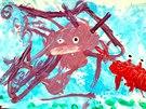 Chobotnice se kamarádí s krabem