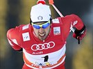 Federico Pellegrino na trati sprintu Světového poháru v Davosu.