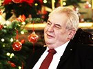Prezident Miloš Zeman při vánočním projevu 26. prosince 2014