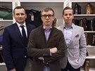 Podnikatelé František Reisner, Lukáš Pohan a Michael Horovič