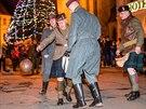 Vánoční příměří na Velkém náměstí v Hradci Králové.