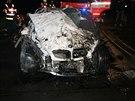Žena bez řidičského průkazu v Havířově narazila do mostního pilíře. Na místě zemřela (24. prosince 2014).
