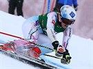 Tina Weiratherová v obřím slalomu v Kühtai.