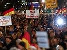 Na demonstraci svolan� hnut�m Vlastene�t� Evropan� proti islamizaci Z�padu se v Dr��anech se�lo 17,5 tis�ce lid�.