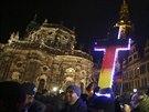 Demonstrace proti imigrační politice německé vlády a islamizaci Evropy v Drážďanech 22. prosince 2014
