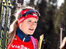 Gabriela Soukalová po čtvrtém místě v závodě SP s hromadným startem, který se konal v Pokljuce.