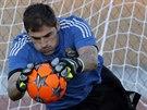 Iker Casillas na tréninku Realu Madrid