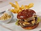 Zřejmě nejdražší burger v metropoli stojí tisíc korun a zdobí ho plátky zlata.