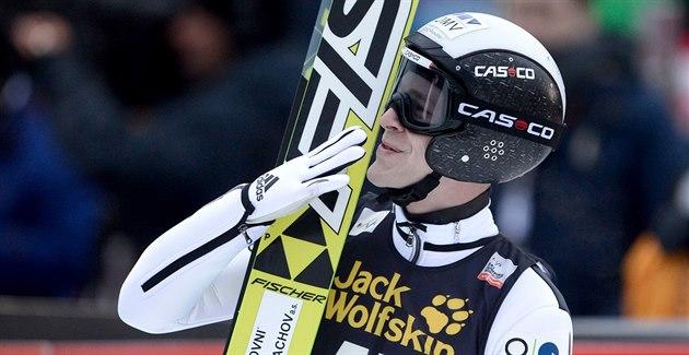 Roman Koudelka si v Engelbergu dosko�il pro druhé místo.