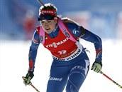 Gabriela Soukalová míří pro čtvrté místo v závodě SP s hromadným startem, který hostila slovinská Pokljuka.