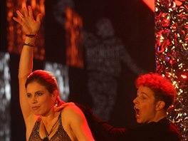 Eva Samková si při vyhlašování Sportovce roku 2014 zatančila s Janem Onderem.