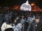 Protest ruské opozice na Manéžním náměstí v Moskvě. (30. prosince 2014)