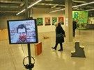 Pohled na výstavu Kdo na moje místo v městské galerii Plato v Ostravě. (29. prosince 2014)