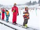 Skiareál Lipno je v obležení lyžařů.