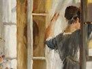 Jakub Obrovsk�, U okna, 1917